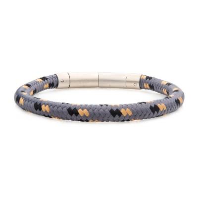 6mm Grey, Black and Beige Nylon Cord Bracelet