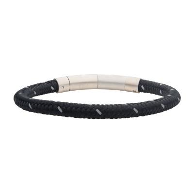 6mm Black Reflective Nylon Cord Bracelet