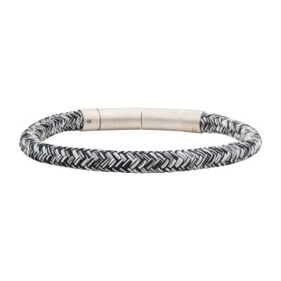 6mm Black and White Nylon Cord Bracelet