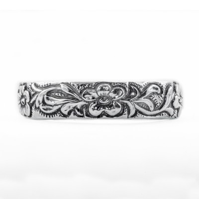 CB004 | Antique| Cigar Band | Gold Platinum Silver