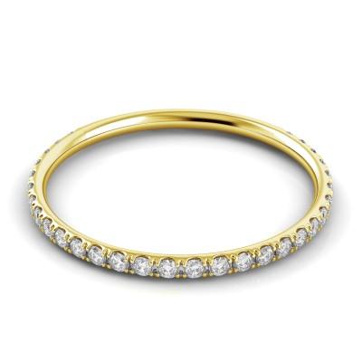 Round Diamond Wedding Band for Her
