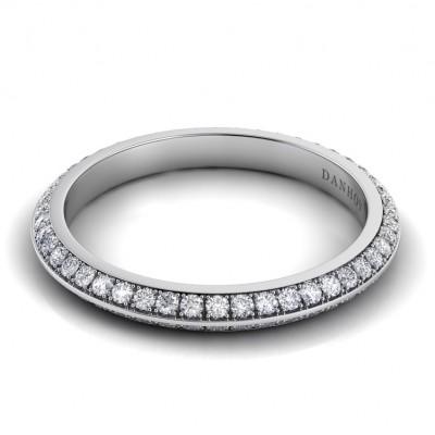 Knife Edge Diamond Wedding Ring for Women