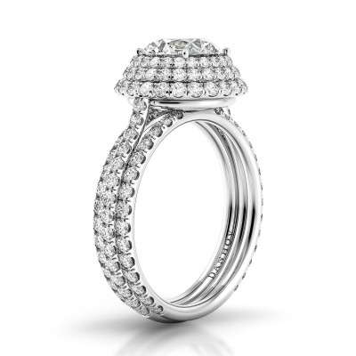 Triple Shank Engagement Ring