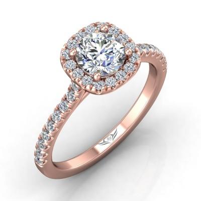 14k Rose Gold Ladies Engagement Ring CM04XSCUPQ-C086409