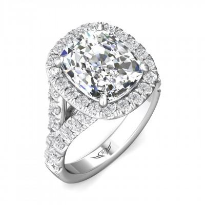 14k White Gold Ladies Engagement Ring CSP05R