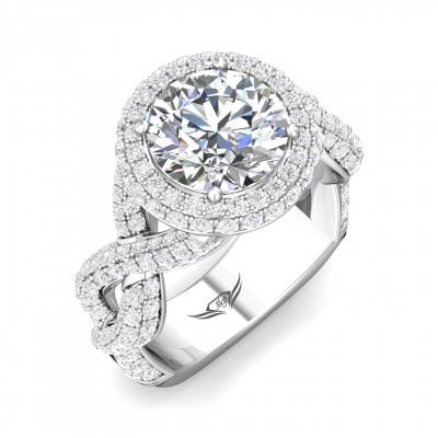 14k White Gold Ladies Engagement Ring CYEM05