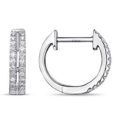 14k White Gold Ladies Earring E01466-RD.W