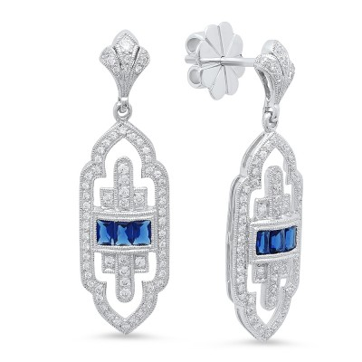 White Gold Ladies Earring E10270