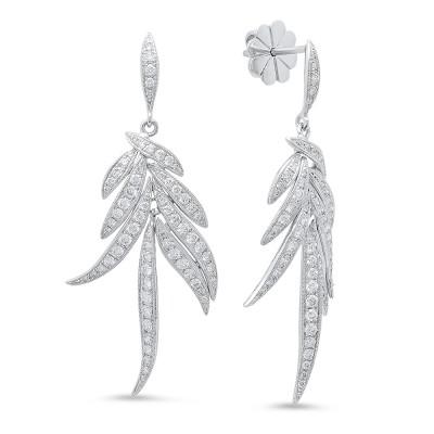 White Gold Ladies Earring E10388