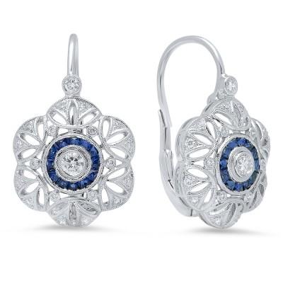 White Gold Ladies Earring E10966- D,S