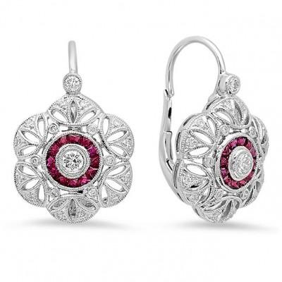 White Gold Ladies Earring E10966- D,R