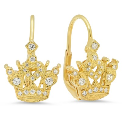 Yellow Gold Ladies Earring E116