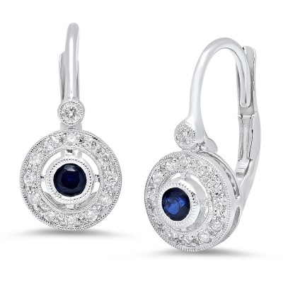 White Gold Ladies Earring E7701
