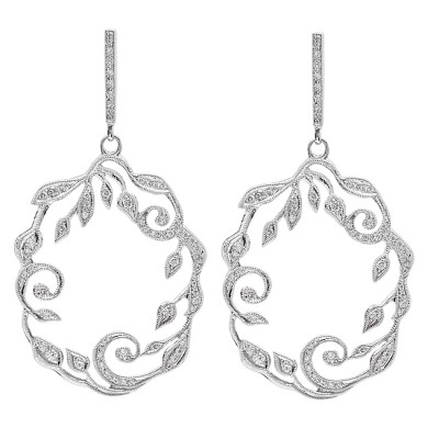 White Gold Ladies Earring E9868(C)-D,D