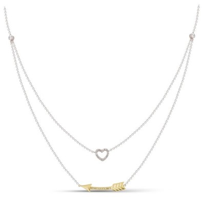 Two-Tone Ladies Necklace N01784-RD.TT