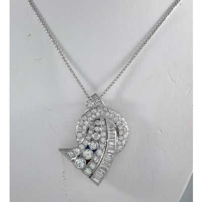 Platinum Ladies Pendant N6296