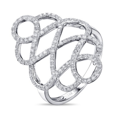 14K White Gold Ladies Fashion Ring R01200