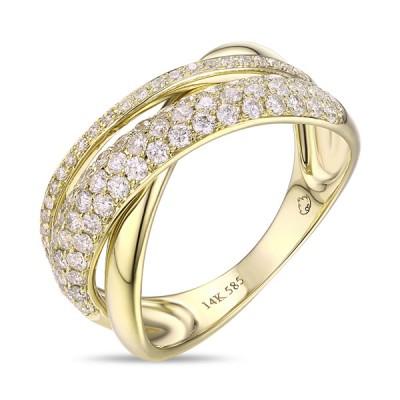 14K Yellow Gold Ladies Fashion Ring R01206