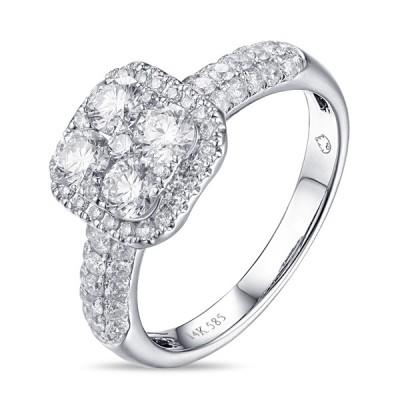 14K White Gold Ladies Fashion Ring R01237