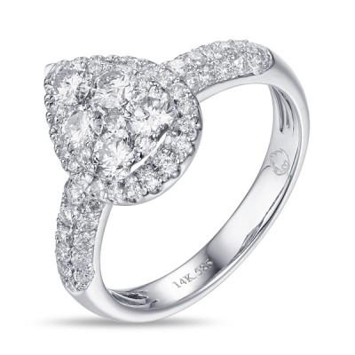 14K White Gold Ladies Fashion Ring R01240