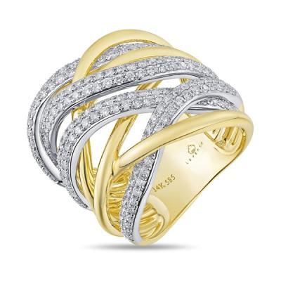 Two-Tone Ladies Fashion Ring R02084