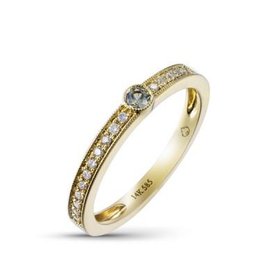 14K Yellow Gold Ladies Fashion Ring R02240