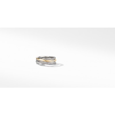 The Crossover Collection® Narrow Ring with 18K Yellow Gold