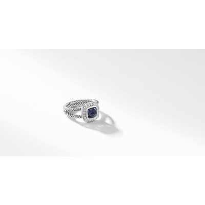 Petite Albion® Ring with Black Orchid and Diamonds