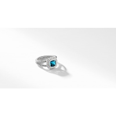 Petite Albion® Ring with Hampton Blue Topaz and Diamonds
