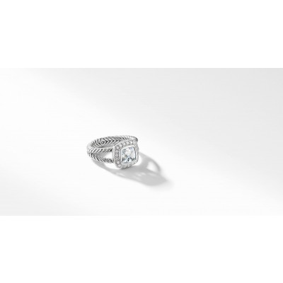 Petite Albion® Ring with White Topaz and Diamonds