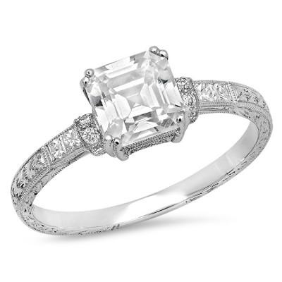 Platinum Ladies Fashion Ring R10015