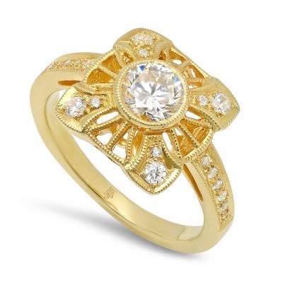 White Gold Ladies Fashion Ring R10040