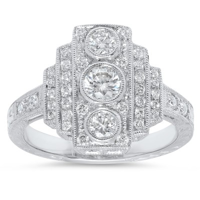 Platinum Ladies Fashion Ring R10053