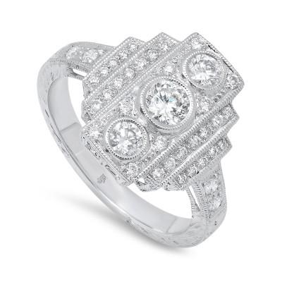 White Gold Ladies Fashion Ring R10053