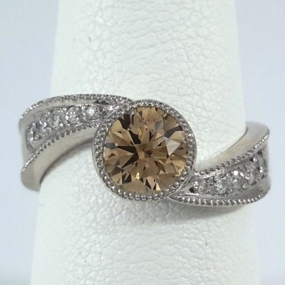 Platinum Ladies Fashion Ring R10062