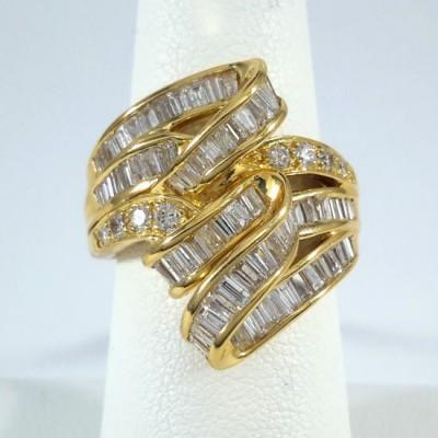 18k Yellow Gold Ladies Fashion Ring R10063