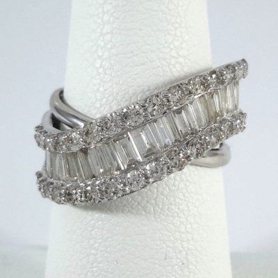 Platinum Ladies Fashion Ring R10079