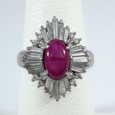 Platinum Ladies Fashion Ring R10081