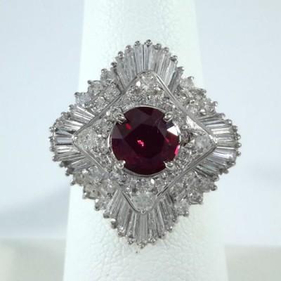 Platinum Ladies Fashion Ring R10085