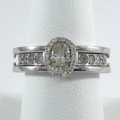14k White Gold Ladies Fashion Ring R10095