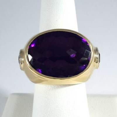 14k Yellow Gold Ladies Fashion Ring R10104