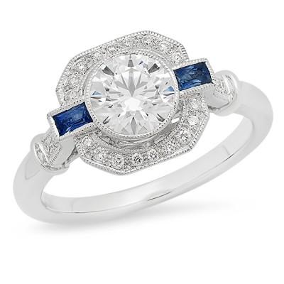 White Gold Ladies Engagement Ring R10332