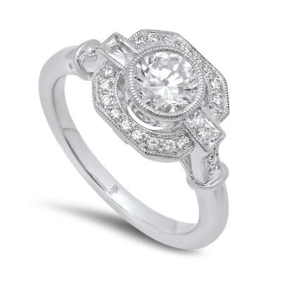 White Gold Ladies Engagement Ring R10332 D,D