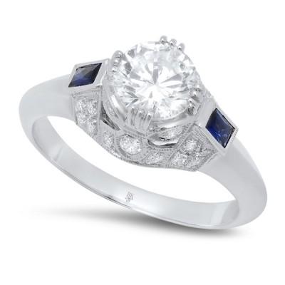 White Gold Ladies Engagement Ring R10347
