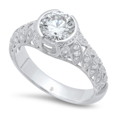 White Gold Ladies Engagement Ring R10353