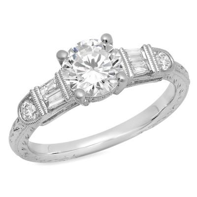 White Gold Ladies Engagement Ring R10359