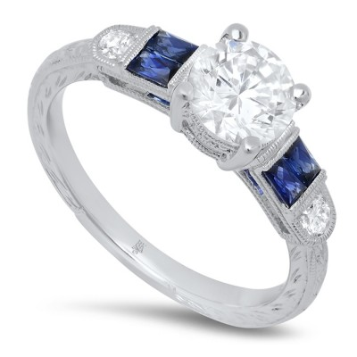 White Gold Ladies Engagement Ring R10359-D,S