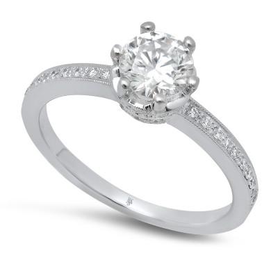 White Gold Ladies Engagement Ring R10367