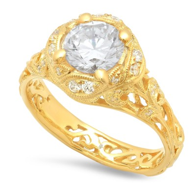 Yellow Gold Ladies Engagement Ring R10439