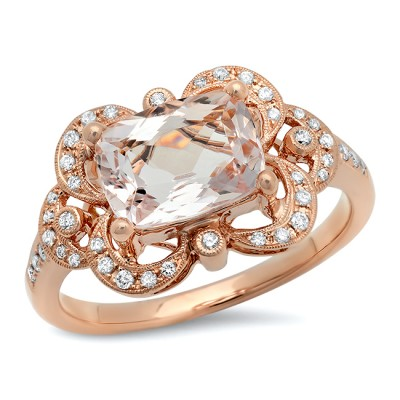 Rose Gold Ladies Engagement Ring R10373